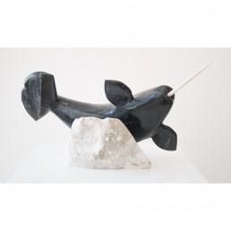 Manasie Akpaliapik Narwhal scultpture lineage arts