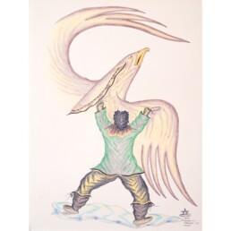Drum Dancing Bird Jacopoosie Tiglik Lineage Arts Gallery Ottawa