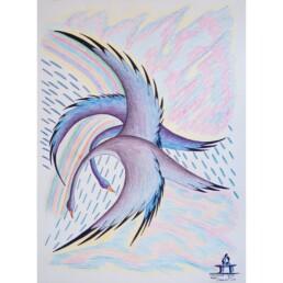 Dancing Birds Jacopoosie Tiglik Lineage Arts Gallery Ottawa