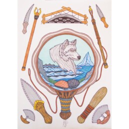 Wisdom of Wolf Naqsuqtuq Pee Lineage Arts Gallery Ottawa