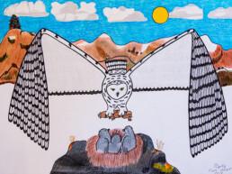 Soaring Owl Pauojoungie Saggiak Lineage Arts Gallery Ottawa