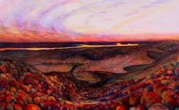 Champlain Lookout at Dusk - Gatineau Park Luis Leigh Guillermo Lineage Arts Gallery Ottawa