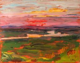 Champlain Lookout - sketch en plain air Luis Leigh Guillermo Lineage Arts Gallery Ottawa