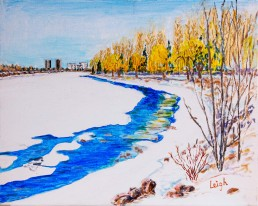 Early Spring at Mooneys Bay Luis Leigh GuillermoLineage Arts Gallery Ottawa