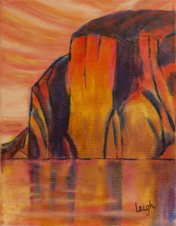 Evening Light - Mazinaw Rock at Bon Echo Luis Leigh Guillermo Lineage Arts Gallery Ottawa