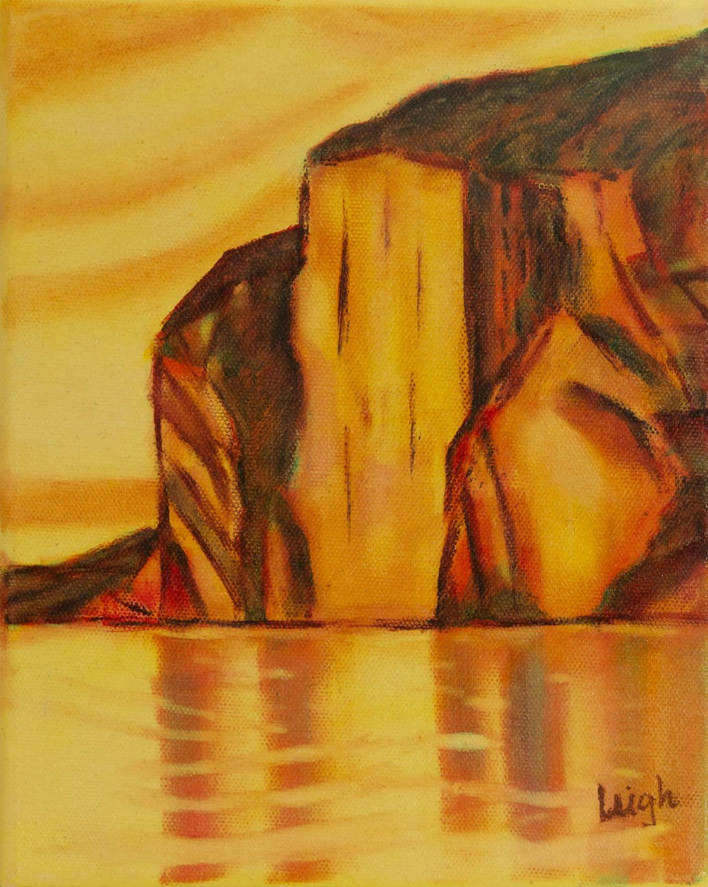 Morning Light - Mazinaw Rock at Bon Echo Luis Leigh Guillermo Lineage Arts Gallery Ottawa