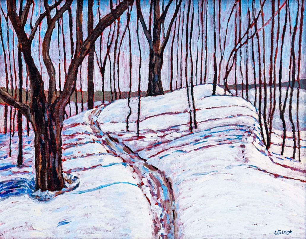 Snow at Mer Bleue Luis Leigh Guillermo Lineage Arts Gallery Ottawa