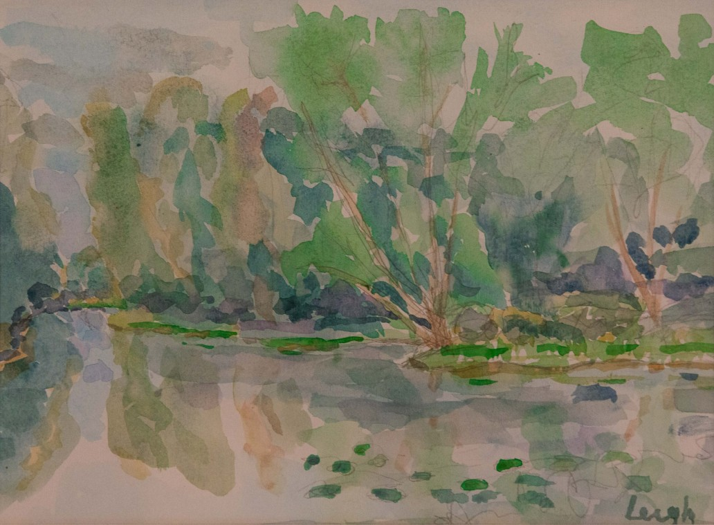 Tree Grouping on the Water at Petrie Island Luis Leigh Guillermo Lineage Arts Gallery Ottawa